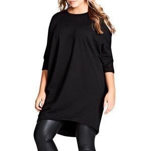 CITY CHIC OVERSIZED KNIT TEE ♥️IN STORES♥️